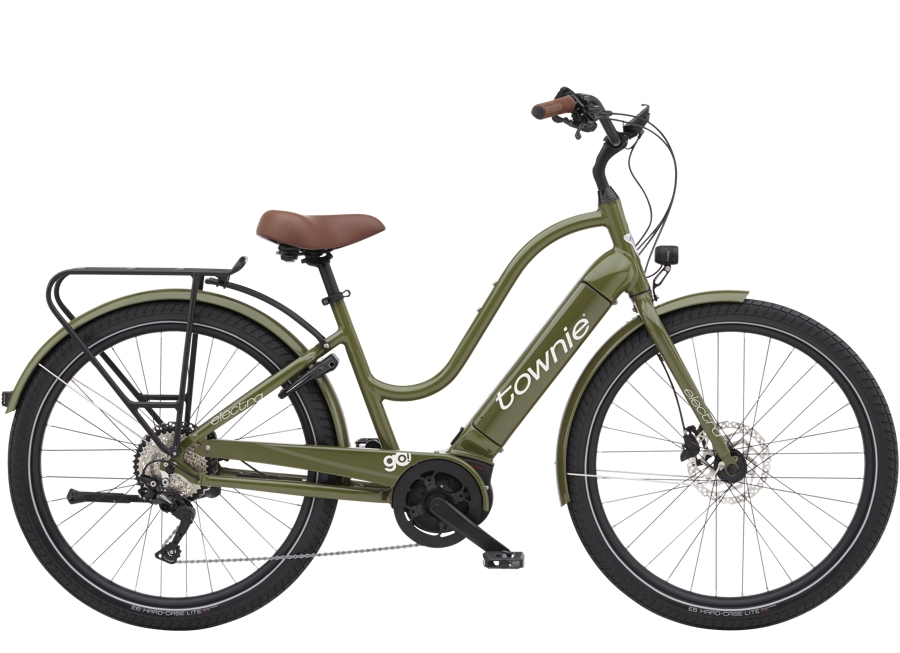 Electra Townie Path Go! 10D EQ Step-Thru M Olive
